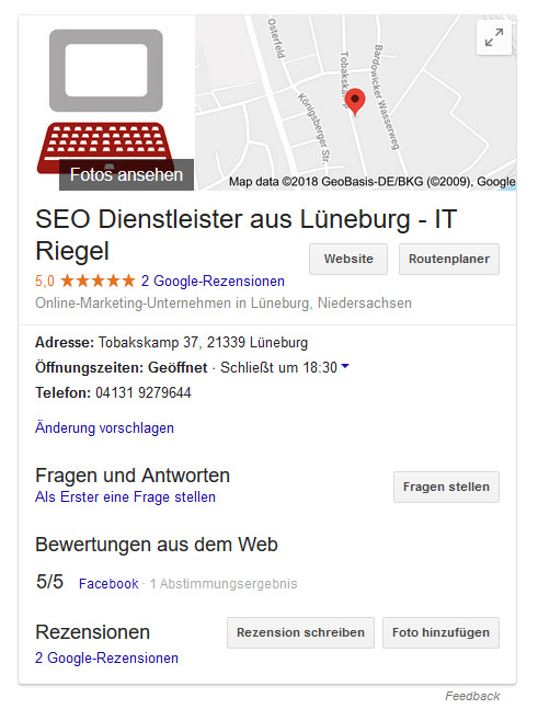 Local SEO IT Riegel Profil